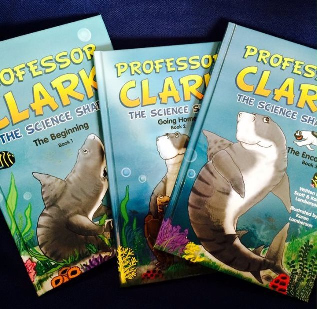 "Professor Clark the Science Shark children's books benefit The Andrew ""Red"" Harris Foundation"