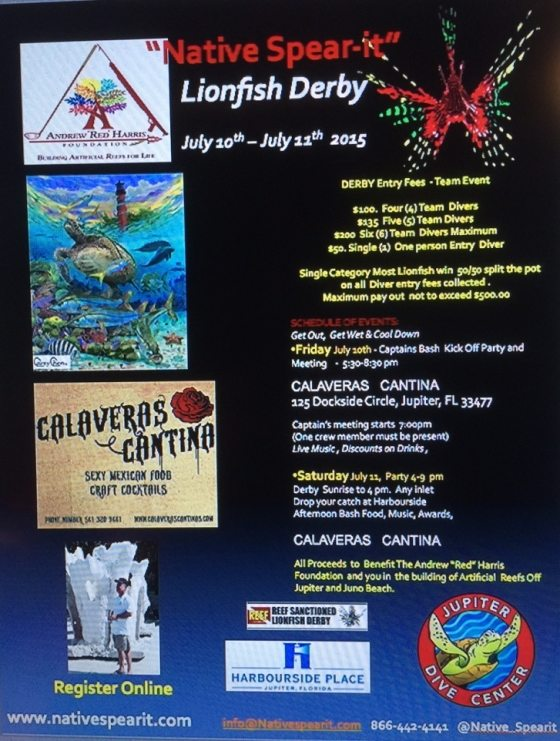 2015 Lionfish Derby poster