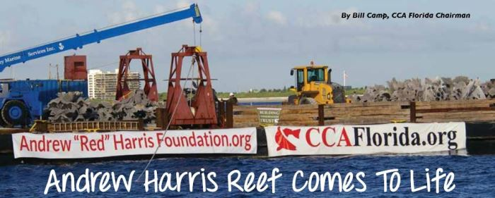 Andrew Red Harris Reef in CCA's Sea Watch Magazine
