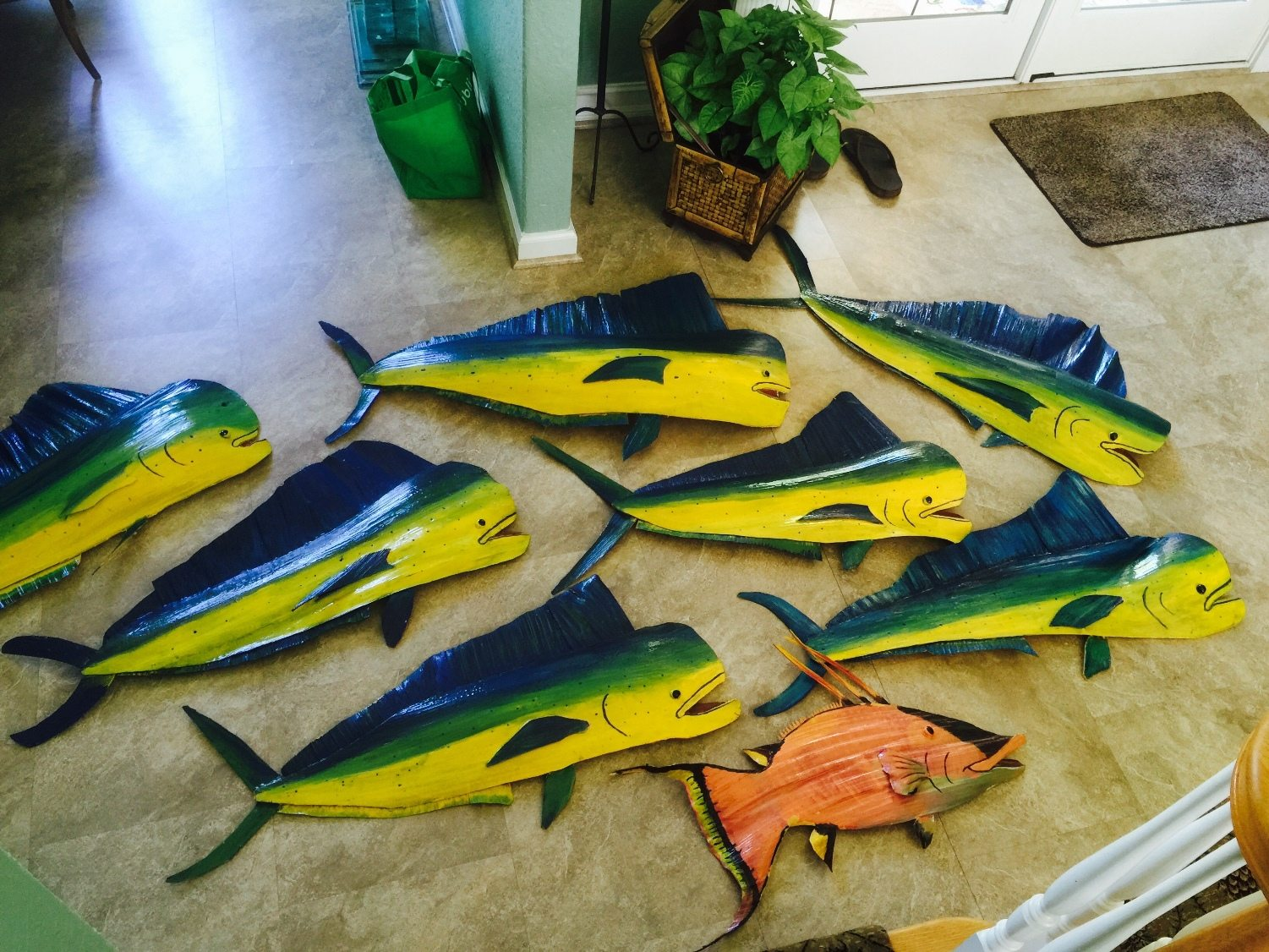 "Palm Frond Dolphin sales benefit The Andrew ""Red"" Harris Foundation"