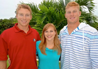 Andrew, Christine and Ryan Harris